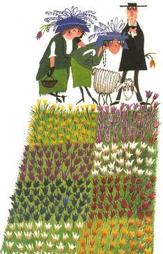 Fiep Westendorp I love this little crazy working landscape People Illustration, Children's Book Illustration, Fields In Arts, Whimsical Art, Book Design, Illustrators, Schmidt, Book Art, Art Drawings
