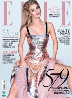 Rosie Huntington-Whiteley on ELLE Brazil September 2016 Cover