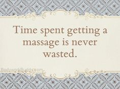 Massage is worth setting some time aside for. Be sure to call Devine Massage…