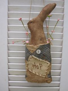 "~*AWESOME*~ Primitive ""RABBIT"" Doll!  Very Prim!!"