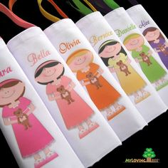 personalized sleepover party or slumber party goody bags - more at the etsy shop - ballerina party, beach party - cute