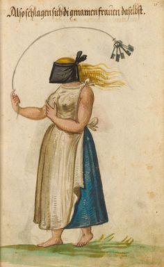 Bayerische Staatsbibliothek. BSB Cod.icon. 342 (Munich c 1600).  Kostümbuch - Kopie nach dem Trachtenbuch des Christoph Weiditz