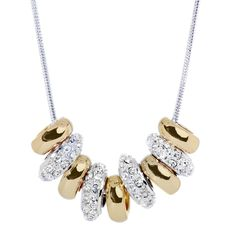 Swarovski Beads Two-Tone Crystal Necklace - Artune Jewelry Online