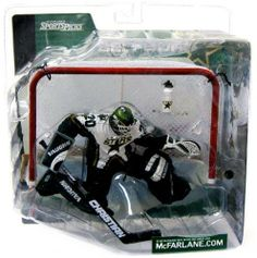 Amazon.com: McFarlane Toys NHL Sports Picks Series 1 Action Figure: Eddie Belfour (Dallas Stars) White Jersey CHASE (WITH LOGO ON BOTTLE!): ...