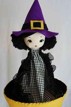 little witch cone/pop-up puppet