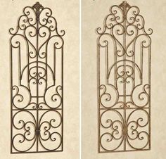 A charming heart, swirling motifs, and a fleur design decorate the Antonello Indoor/Outdoor Wall Grille with elegance.