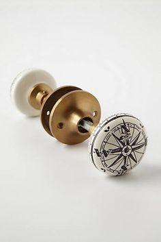 Compass Doorknob-for my bathroom!