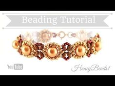 Best Seed Bead Jewelry 2017 – Beginners Bracelet Sunflower Tutorial Beading Tutorial by HoneyBea…… Beaded Bracelets Tutorial, Beaded Bracelet Patterns, Seed Bead Bracelets, Bead Jewellery, Seed Bead Jewelry, Bead Earrings, Crystal Jewelry, Seed Beads, Tutorials