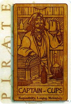 King (Captain) of Cups - Pirate Tarot by Liz Harper, Carrie Amodio