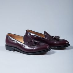 Berwick Men's Burgundy Tassel Loafers: Berwick use premium leather from the German tannery of Jon Rendenbach Jr. where the cuts are tanned for a year in oak leaves. After this, the final colouring and patina effect is done by hand so each pair is totally unique.