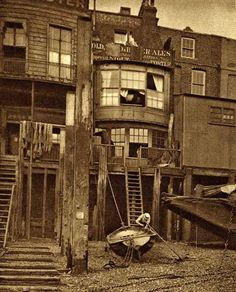 The Grapes at Limehouse | vintage everyday: Old London in the Nineteen-Twenties