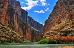 """Santa Elena Canyon in Big Bend:  Last time I was there, 3 girls climbed on the rocks and sang """"Amazing Grace"""" in 3 part harmony. Gives me chills to this day ,it was so beautiful!"""