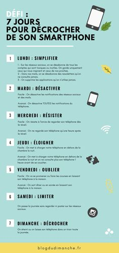 Défi : 7 jours pour décrocher de son smartphone If you feel stressed on a daily basis, that you tend to be glued to your smartphone and to receive comments from your exhausted entourage, maybe it'