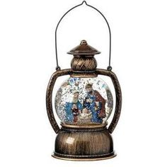 The Holiday Aisle LED Battery Operated Nativity Lantern Water Globe Water Globes, Snow Globes, Led Tree, Ceramic Christmas Trees, Velvet Pumpkins, Wooden Tree, Wreath Supplies, Battery Operated, Seasonal Decor