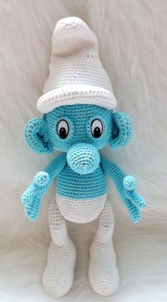 Crochet Smurf Pattern~~ I so need to get this pattern to make for my BIL as his wife (my sister) calls him Smurf