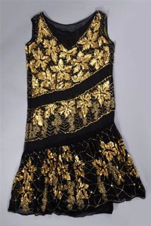 Material(s): silk, glass and synthetic  Technique(s): woven, applied (sequins) and applied (beads)  Creation date: 1925-1929  Display status: Available to view by appointment  - Fashion Museum - Bath (UK)