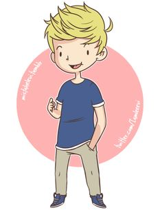 Niall's outfits in cartoons! (GIF)