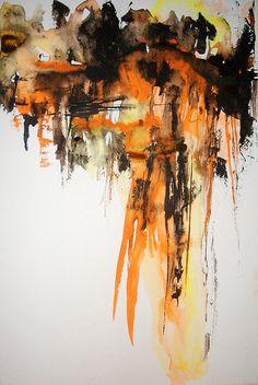 Abstract Art Watercolor - Dancing Queens