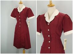 I wore this uniform in my waitress days - in harvest gold but it is missing it's apron.
