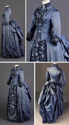 Vestido de la recepción de la boda, Blanche Bouchet, París, 1880. Otomana de seda con bordados, perlas y cuentas iridiscentes. Musée Galliera   4