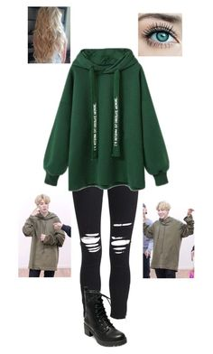 """""""BTS Jimin Inspired Outfit"""" by bazingabrittany on Polyvore featuring AMIRI and Madden Girl"""