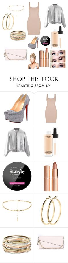 """""""Untitled #15"""" by kmedina0608 ❤ liked on Polyvore featuring Christian Louboutin, WithChic, MAC Cosmetics, Maybelline, Charlotte Tilbury, Pieces, Kendra Scott, Christian Dior and Boohoo"""