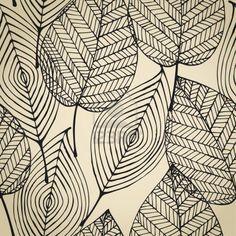 Autumn beige seamless stylized leaf pattern