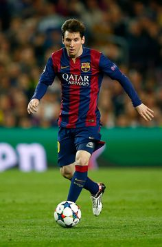 Lionel Messi of Barcelona in action during the UEFA Champions League Quarter Final second leg match between FC Barcelona and Paris Saint-Germain at Camp Nou on April 21, 2015 in Barcelona, Catalonia.