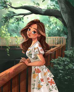 Cartoon Girl Images, Cute Cartoon Girl, Cartoon Pics, Cartoon Art, Cartoon Girl Drawing, Anime Girl Drawings, Anime Art Girl, Cute Drawings, Alone Art