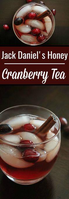 Enjoy this Jack Daniel's Honey Recipe: Jack Honey Cranberry Tea, this Fall season with it's smooth mix of sweet tea, cranberry, Honey Jack and cinnamon stick Christmas Drinks, Holiday Drinks, Fun Drinks, Yummy Drinks, Yummy Food, Mixed Drinks, Alcoholic Drinks, Juice Drinks, Drinks Alcohol
