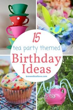 Are you looking for tea party themed birthday party ideas for your next celebration? These 15 fun, festive, and whimsical ideas are perfect additions to any party.