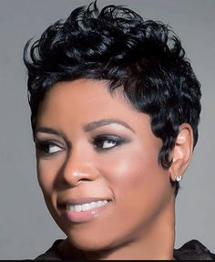 Cute short curly wigs for black women lace front wigs human hair wigs. Click the link to see this wig. Cute Hairstyles For Short Hair, My Hairstyle, Short Hair Cuts, Braided Hairstyles, Curly Hair Styles, Natural Hair Styles, Hairstyles 2018, Pixie Cuts, Black Hairstyles