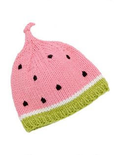 Spud and Chloe Watermelon Hat Free Pattern