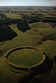 coolartefact:  Viking ring castle in Denmark, dating from c. 980 AD. [760x1100] Source: http://i.imgur.com/yOVsKdd.jpg