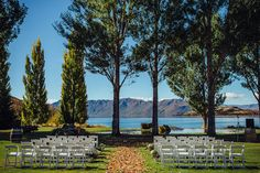 wedding ceremony setup - photo by Golden Hour Studios http://ruffledblog.com/mountaintop-wedding-in-new-zealand