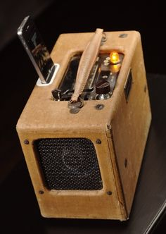 iPod charging station from vintage radio