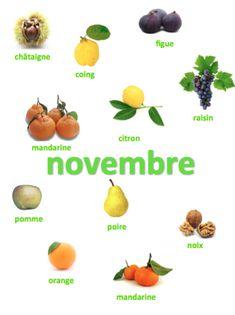 Keskonmangemaman?: Les fruits et légumes de Novembre