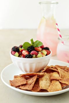 Fruit Salsa  A perfect blend of fresh fruit combines with strawberry jam to create a deliciously sweet and summery dessert salsa.    MyBakingAddiction.com