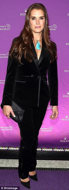 Brooke Shields looking classy at the Alzheimer's Association Rita Hayworth 30th Anniversary Gala in New York City.