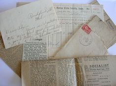 1900s Paper Ephemera 7 Piece Lot of Letters by CraZyDreamZ on Etsy,
