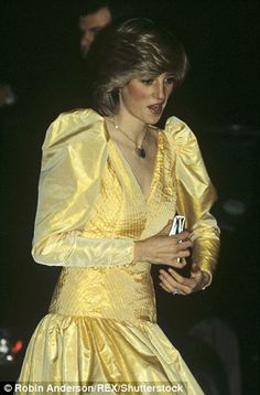 Diana wears puffy sleeves in 1983
