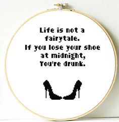 Funny quote cross stitch pattern. PDF Instant by ShopDeLorai