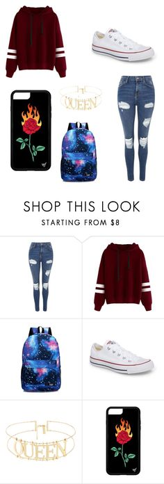 """""""Untitled #219"""" by kaybabync on Polyvore featuring Topshop and Converse"""