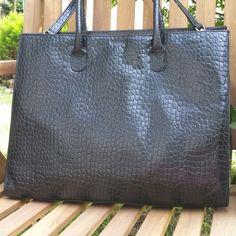 Osprey London Black Leather Tote Bag Purse, Osprey by Graeme ...