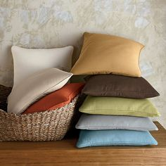 Dorm Decor: Cotton Twill Throw Pillow Covers