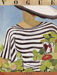 love me a striped top l vintage Vogue l May 1936