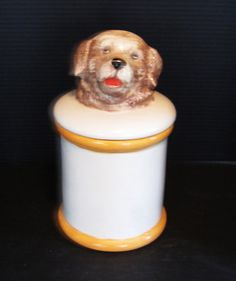 *Ceramic puppy cookie jar