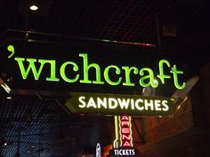 'wichcraft | Las Vegas Vegas 2, Real Food Recipes, Travelling, Waiting, Food And Drink, Mountain, Favorite Recipes, Neon Signs, Eat