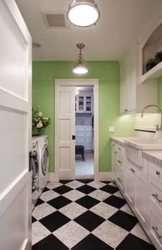 green laundry room - Google Search