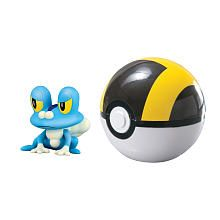 Tomy Pokemon 2 inch Clip n Carry Poke Bal#153; Action Figure with Ultra Ball  Froakie